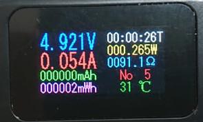 Экран 2 . То, что мы видим на экране USB мультиметра во время его работы