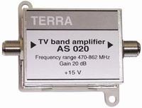 Усилитель диапазонный одновходовой AS019 (Terra)