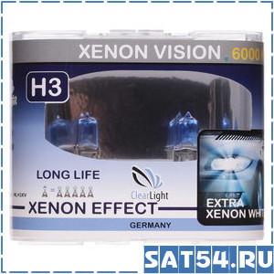 Лампа галогеновая Clearlight  H3 12V-55W XenonVision