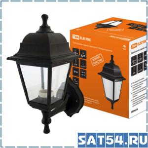 Светильник TDM садово-парковый НБУ 04-60-001 четырехгранник, настенный, пластик, черный TDM