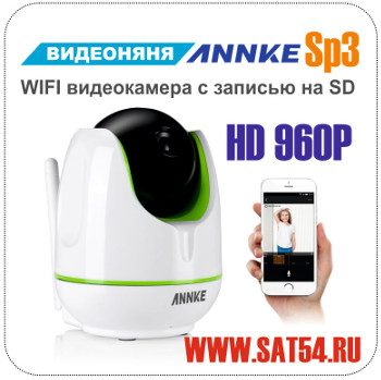 Видеоняня. WIFI камера с записью на SD Annke SP3. Поворотная