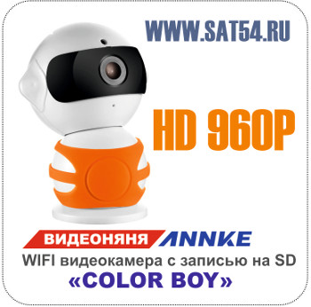 """Видеоняня  ANNKE """"Color Boy"""". WI FI видеокамера с записью на SD и подключением к сети Интернет."""