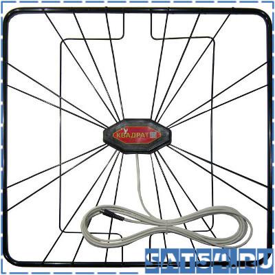 Антенна Orbiton-КВАДРАТ комнатно-уличная DVB-T2/МВ/ДМВ/5,5дБ кабель 6м