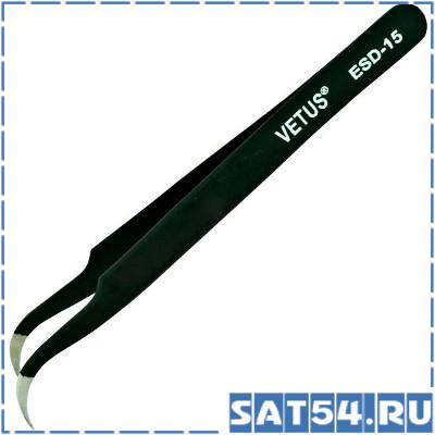 Пинцет изогнутый Vetus ESD-15