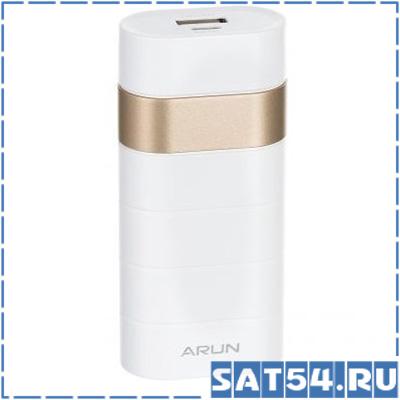 Портативный аккумулятор ARUN Y302 (6000mAh, 5V 1USB-1А, пластик/ металл)
