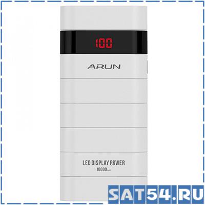 Повер банк ARUN Y305D (10000mAh, 5V, 1USB-2100mA, 2USB-2100mA, пластик/металл)