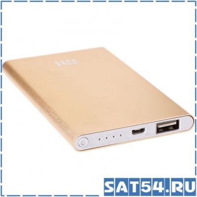 Портативный аккумулятор MI 3 (4800mAh, 5V, 1USB-1000mA, металл)