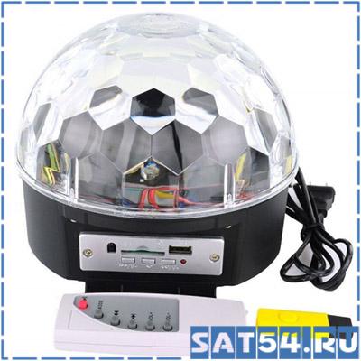 """MP3-Плеер """"Диско-шар"""" MP-382 (Цветомузыка/USB/ ПДУ/ Bluetootch/датч.звука)"""