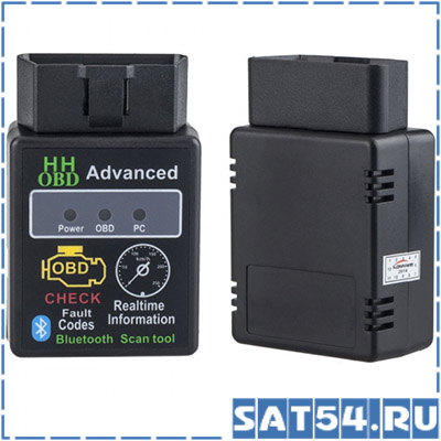 Автосканер C-33 (OBD2, V2.1) Bluetooth (ELM327 HH OBD Advanced (Android/Win_Mobile/ПК)
