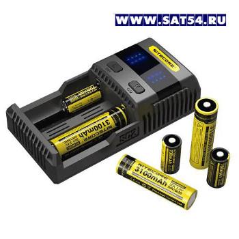 NITECORE Intellicharger SC2 зарядное устройство для аккумуляторов 18650 большой мощности.