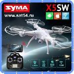 Квадрокоптер с WIFI камерой syma x5SW и трансляцией на пульт.