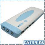 Портативный аккумулятор LS-3242 (8000mAh, 5V, 1-2USB-2100mА / 3-4USB-1000mA, 3 led, пластик)