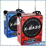 Радиоприемник Waxiba XB-909U (Фонарик, USB, TF, SD, AUX, Наушники, Аккумулятор, 220V)