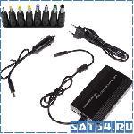 Блок питания для ноутбука TD-406 (12-24V/12,5A/100Вт/9 разъемов/USB/5V1A/ЗУ Авто в прикуриватель