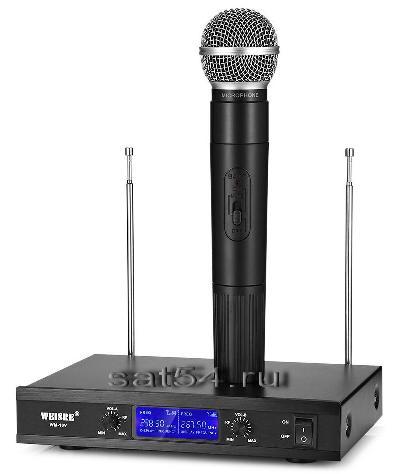 Микрофоны профессиональные WM-10V  беспроводные до 100 метров, вокальные