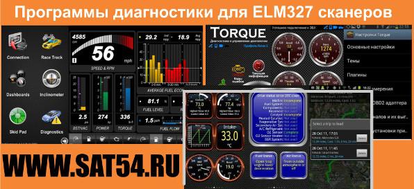 Популярные программы для сканера обд2 ELM327 Bluetooth. Бесплатно скачиваются с Гуглплей